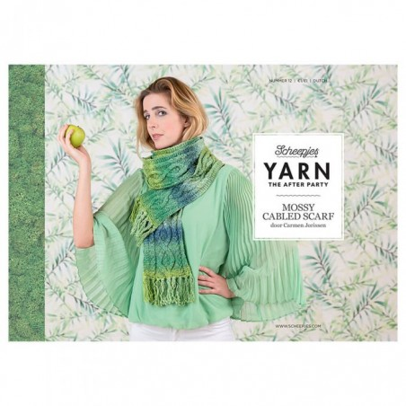 YARN THE AFTER PARTY NO. 12 MOSSY CABLED SCARF Cover