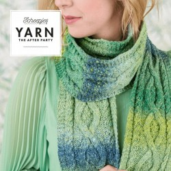 YARN THE AFTER PARTY NO. 12 MOSSY CABLED SCARF Pic 1