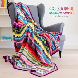 Rainbow Sampler Blanket CAL