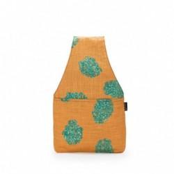 Nora Wrist Bag - Aqua Linen...